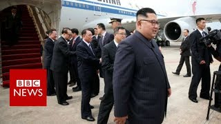 Trump Kim summit: North Korean leader arrives in Singapore - BBC News