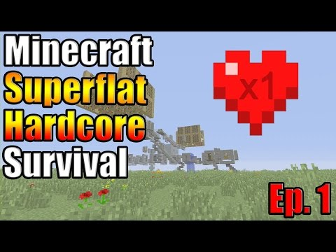 Minecraft Xbox One Superflat Hardcore Survival Ep. 1