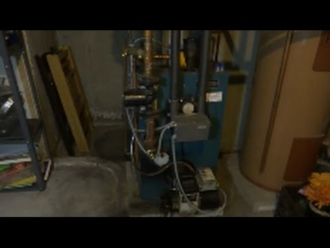 Burnham oil fired steel boiler annual service/ cleaning