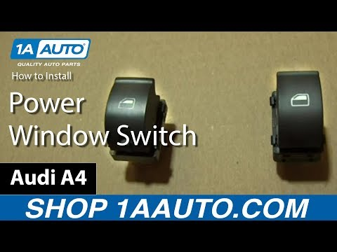 How to Install Single Power Window Switch on the Passenger Door of an Audi A4