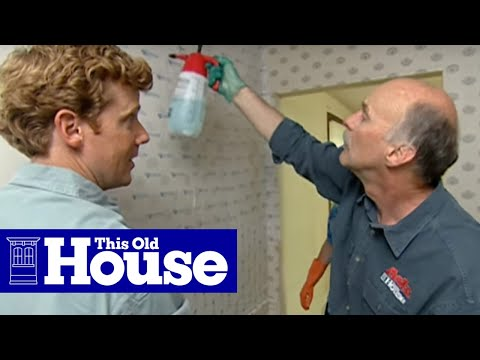 How to Strip Wallpaper - This Old House