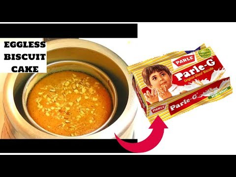 eggless biscuit cake in cooker-parle G biscuit cake