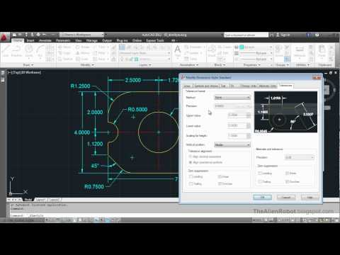 AutoCAD 2012 Introduction Training-1203 Dimension styles