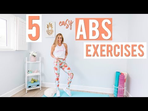 5 EASY Abs Exercises   Lazy Girl Workout