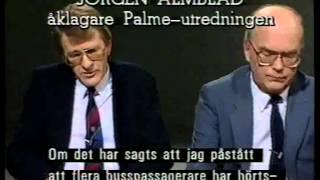 Forum från november 1987, Debatt om polisspåret i Palmeutredningen