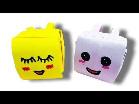 New Small BackPack paper, How to make BackPack paper , Origami Art Design Easy Tutorial