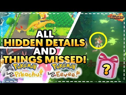 NEW SPECIAL POKEMON?! ALL Things Missed & Hidden Details - Pokémon Let's Go Pikachu & Let's Go Eevee