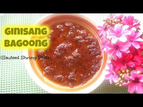 Ginisang Bagoong (Sauteed Shrimp Paste)