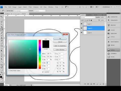 Photoshop - How to draw with the pen tool and colour inside the lines ;)