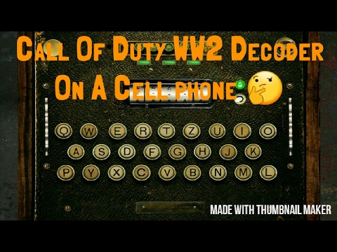 How to get the Call Of Duty Ww2 Decoder Machine Calling Card On a Cell Phone