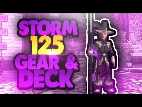 Wizard101 Level 125 Max Storm Gear and Deck Setup!