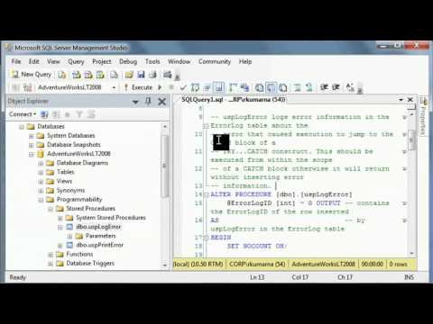 SQL Server Interview Questions-What are stored procedures-Advantages of Stored procedures