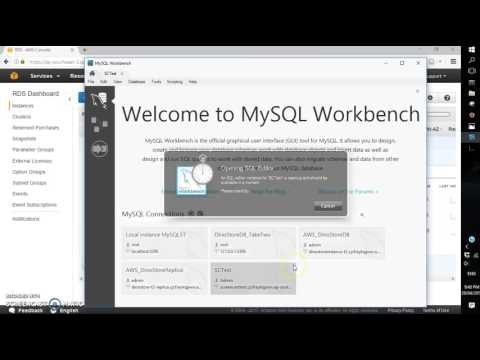 AWS RDS connection to MySQL Workbench 6.3