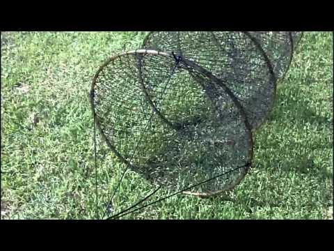 How to set up a hoop net