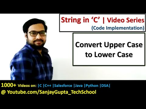 C Programming - Convert upper case into lower case and lower case into upper case in String