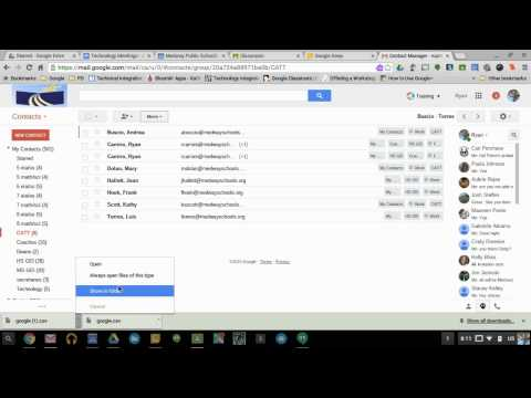 How to Export/Import Gmail Contact Groups