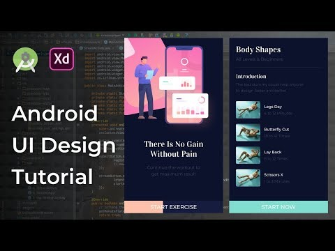 Fitness Details UI Design Animation Adobe Xd to Android Studio Tutorial