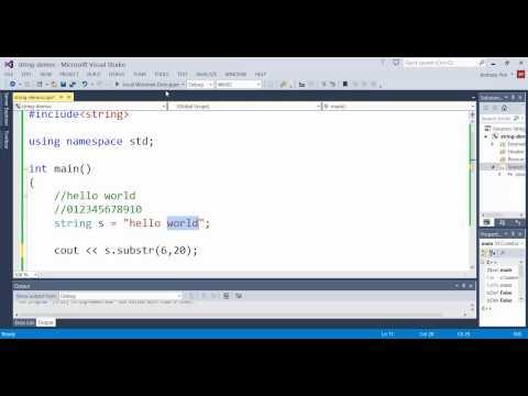 C++ string substr