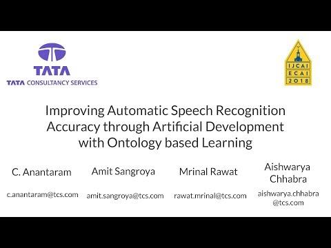 Demo Video (IJCAI 2018): Improving ASR Accuracy through Artificial Development