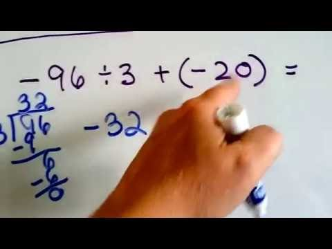 Grade 7 Math #2.3, Order of Operations with negative and positive integers