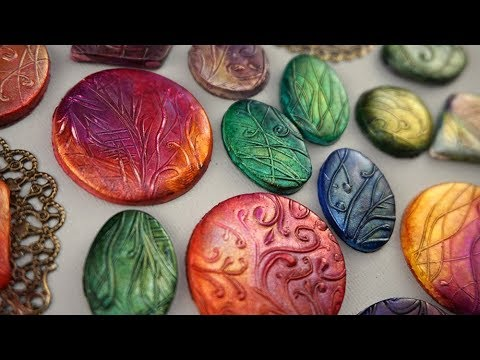 Mica and Ink on Clay -  Making Alcohol Ink Shine