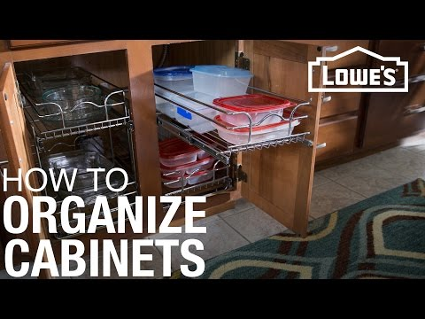 How to Install Cabinet Organizers