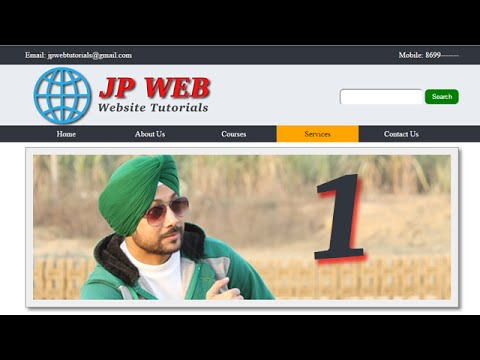 How to make a complete website with HTML and CSS - Part 1 (Easy Explanation in Hindi/Urdu)
