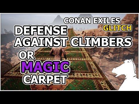 Defense Against Climbers OR MAGIC CARPET | CONAN EXILES [GLITCH]