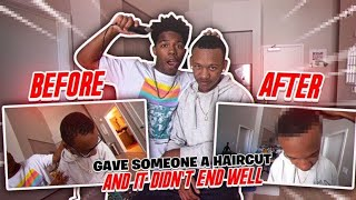 I GAVE SOMEONE A HAIRCUT AND IT TURNED OUT LIKE THIS... *I have no experience*