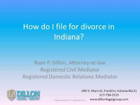 How to file divorce in Indiana