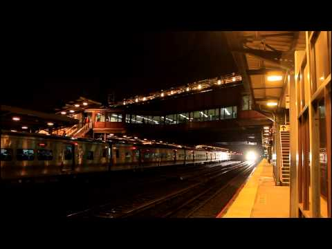 LIRR Main Line: Two Port Jefferson Trains at Woodside RR