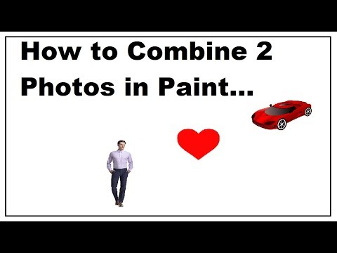 How to Combine Two Photos in Paint