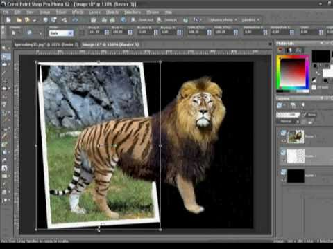Paint Shop Pro Tutorials -How to Make Picture Walk Out of Framed Photo by VscorpianC