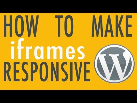 How to Make iframes Responsive - WordPress