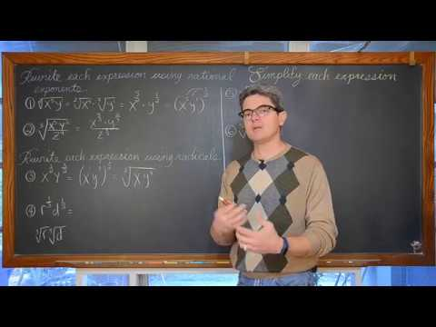 Fractional Exponents Simplifying Radicals