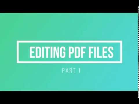 Editing PDF Form Fields