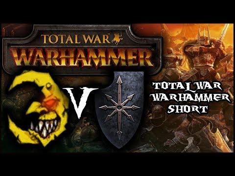 Total War Warhammer, Chaos Vs Goblin Warband (Cinematic Battle)