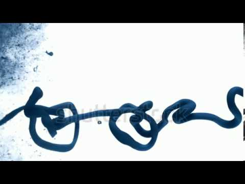 stock footage blue ink dropped in water on white background shooting with high speed camera phantom