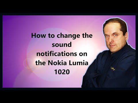 How to change the sound notifications on the Nokia Lumia 1020