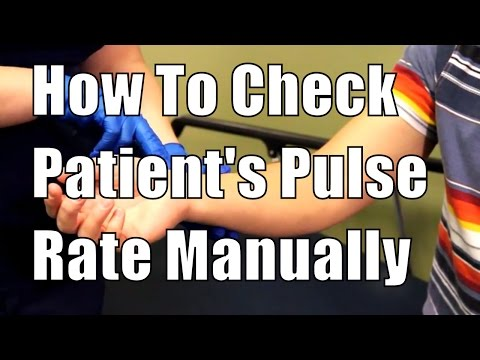 How To Check Patient's Pulse Rate Manually