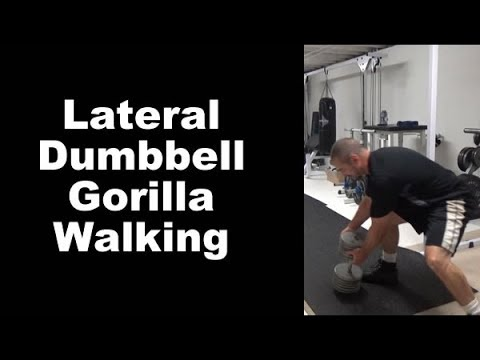 Lateral Movement Conditioning and Training - Lateral Dumbbell Gorilla Walking