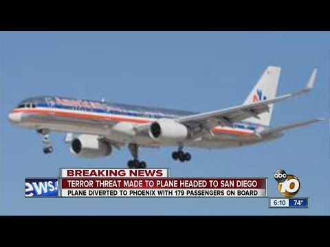 American Airlines flight heading to San Diego diverted to Phoenix