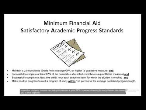 Financial Aid Services - Satisfactory Academic Progress Standards and Practices