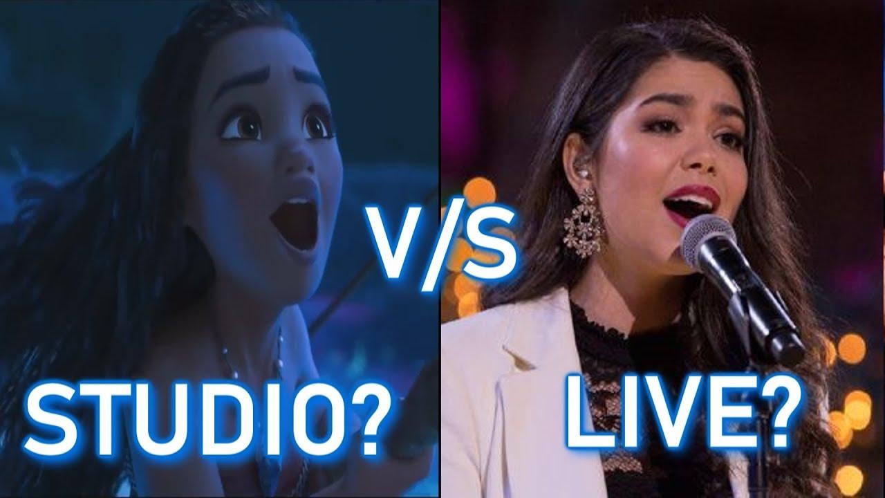 Disney Princesses - STUDIO vs LIVE performances (PART 1)