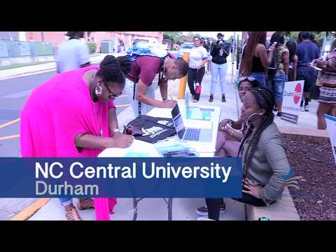 Block party at NCCU helps students get registered to vote