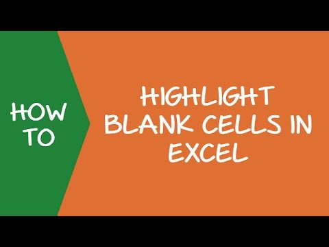 How to Quickly Highlight Blank Cells in Excel