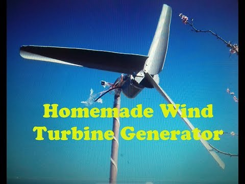 How to make homemade Wind Turbine Generator free energy PVC DIY