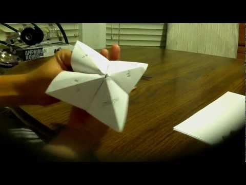 How To Make A Paper Fortune Teller AND How To Use It  [HD]