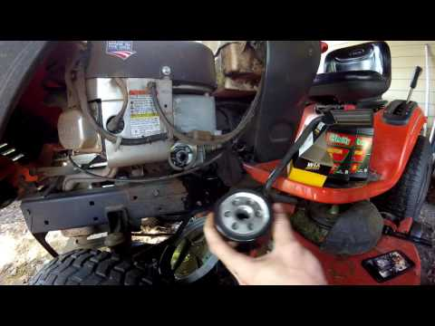 OIl Change How To - Ariens Lawn Tractor - Briggs and Stratton 656