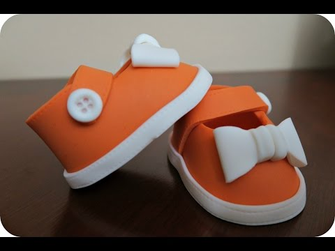 How to make a Fondant Baby Shoe Topper